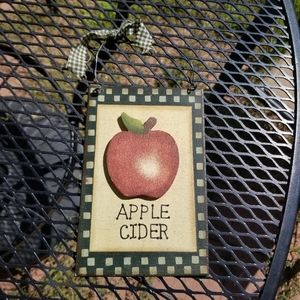 Other - 🛍 Apple Cider wooden sign wall hanging
